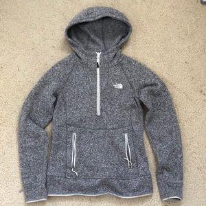 North face quarter zip hoodie